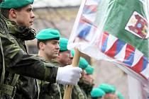 Na slavnostním nástupu chemické brigády v Liberci byli odměněni někteří vojáci také za účast na zajištění bezpečnosti a úspěšnosti průběhu šampionátu v klasickém lyžování.