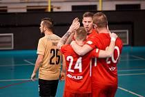 Futsalisté Liberce (v červeném)