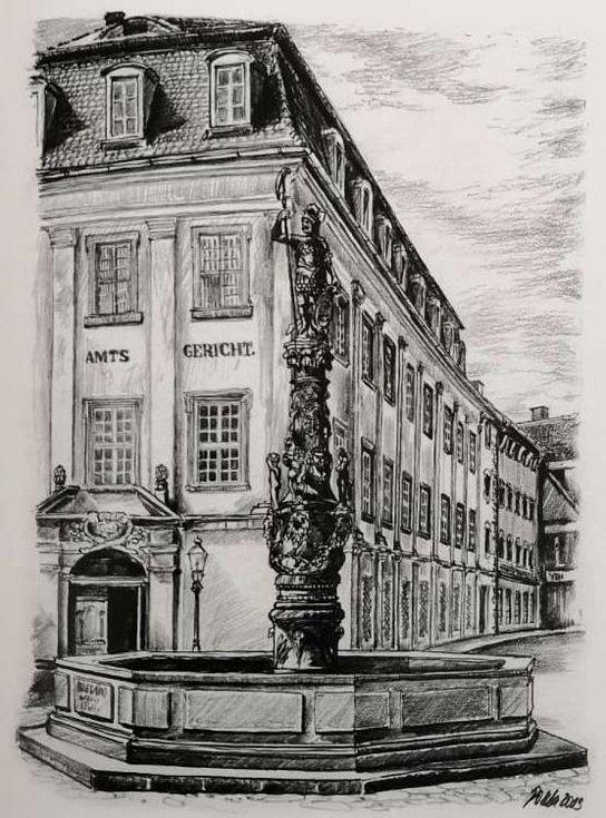 Rolandova kašna na náměstí před žitavskou radnicí z roku 1585 je nejstarší městskou kašnou.