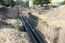 Výměna potrubí. Ilustrační snímek.