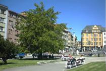 Šaldovo náměstí zachycené v roce 2001.