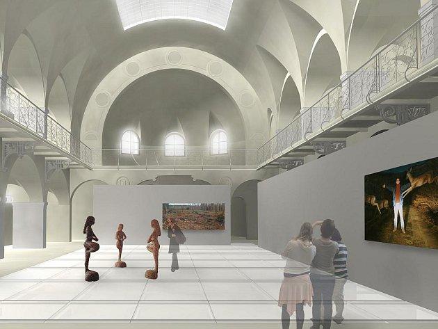 LÁZNĚ NAKONEC BUDOU GALERIÍ. Tak by mohly jednou vypadat novorenesanční Městské lázně. Po rekonstrukci se sem skutečně přesune liberecká Oblastní galerie se svými depozitáři.