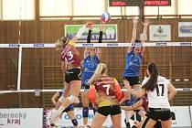 Semifinále volejbalové extraligy žen mezi VK Dukla Liberec a VK Prostějov