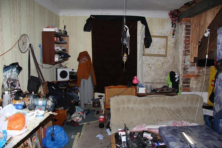 Varna pervitinu v bytě v centru Liberce.