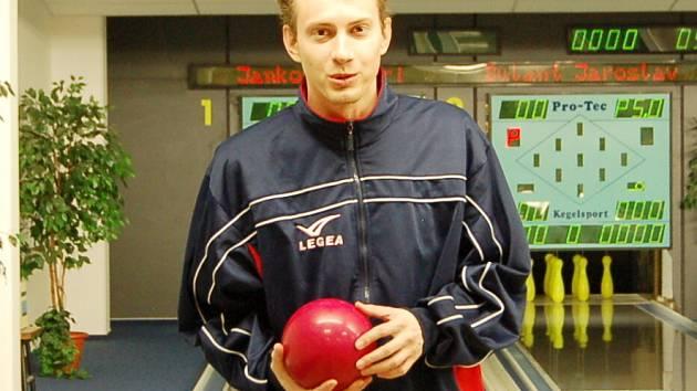 Václav Vlk z kuželkářského týmu Lokomotivy Liberec,