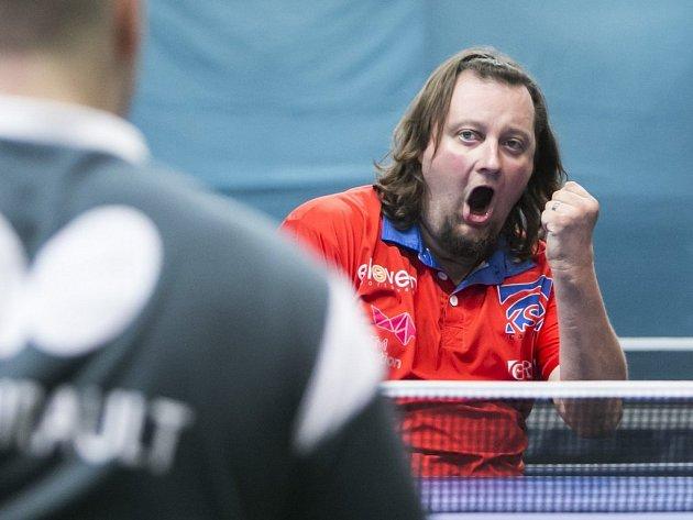 Stolní tenista Jiří Suchánek z SKST Liberec.
