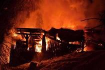 Požár domu v Oldřichově