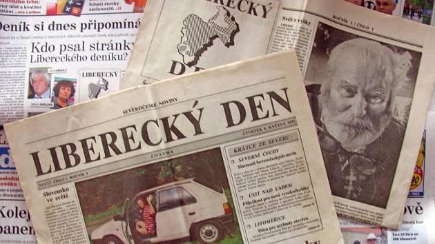 Na fotce je první vydání  tehdy ještě Libereckého dne