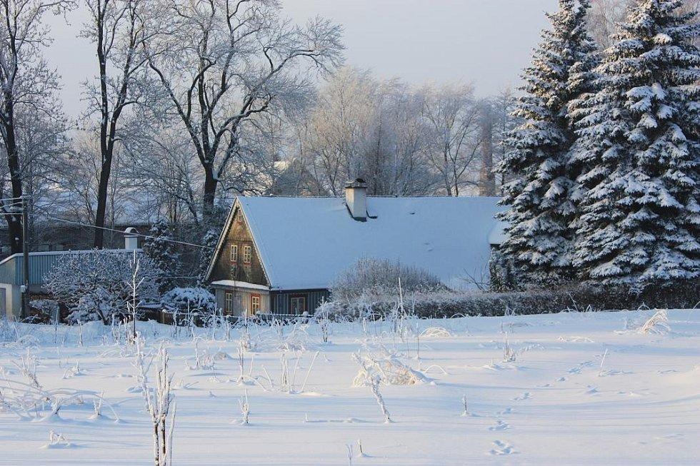 Zima v Ostašově.