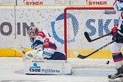 Utkání 9. kola Tipsport extraligy ledního hokeje se odehrálo 1. října v liberecké Home Credit areně. Utkaly se celky Bílí Tygři Liberec a HC Dynamo Pardubice. Na snímku je brankář Martin Růžička.