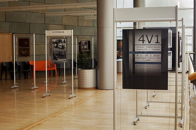 VÝSTAVA 4V1 začala minulý týden a prezentují se na ni čtyři liberecké fotokluby.