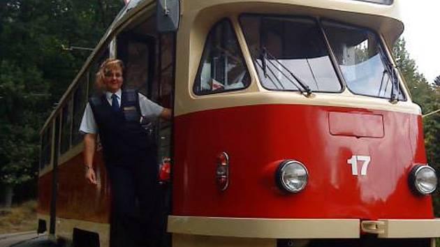 Řidička autobusu.