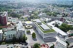 Nový pavilon urgentní medicíny v krajské nemocnici v Liberci. Takto má vypadat z Husovy třídy.