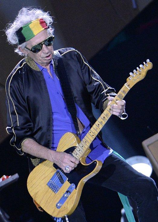 ROLLING STONES VE VÍDNI. Kytarista Keith Richards.