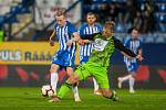 Zápas 14. kola první fotbalové ligy mezi týmy FC Slovan Liberec a FK Mladá Boleslav se odehrál 5. listopadu na stadionu U Nisy v Liberci. Na snímku zleva Petr Ševčík a Michal Hubínek.