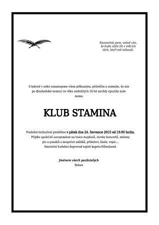KLUB Stamina parte.