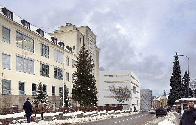 Vítězný návrh architektonického studia SIAL, který vzešel zanonymní soutěže. Zúčastnilo se jí celkem 13architektonických kanceláří. Vnezávislé porotě byli jak odborníci, tak izástupci kraje (Tulpa) a měst Liberec (Galnor, Baxa) a Turnov (Höcke). Návrh
