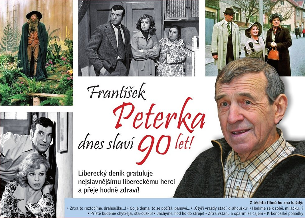 František Peterka slaví devadesátku!