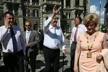 Prezident Miloš Zeman s primátorkou Liberce Martinou Rosenbergovou.