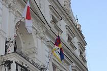 Vlajka pro Tibet v Turnově.