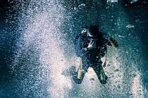 Potápění v Liberci.