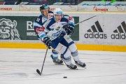 Utkání 23. kola Tipsport extraligy ledního hokeje se odehrálo 19. listopadu v liberecké Home Credit areně. Utkaly se celky Bílí Tygři Liberec a HC Kometa Brno. Na snímku v bélém je Jakub Krejčík.