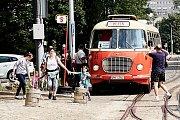 Liberecký dopravní podnik přivítal v sobotu návštěvníky na Dnu otevřených dveří.