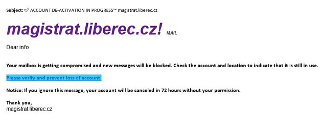 Podvodný mail.