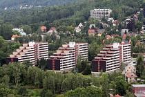 Areál harcovských kolejí Technické univerzity v Liberci.