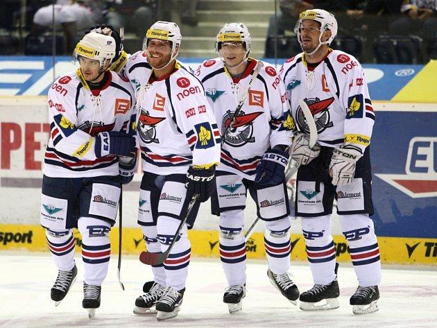 Hokejové utkání Tipsport extraligy v liberecké Tipsport Areně mezi domácím týmem Bílí Tygři Liberec a Piráti Chomutov.