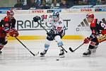14. kolo extraligy ledního hokeje mezi HC Bílí Tygři Liberec a HK Mountfield Hradec Králové.