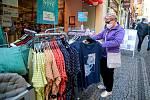 Otevírání obchodů v Liberci.