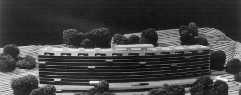 Návrh jabloneckého sídliště Mšeno z 60. let.