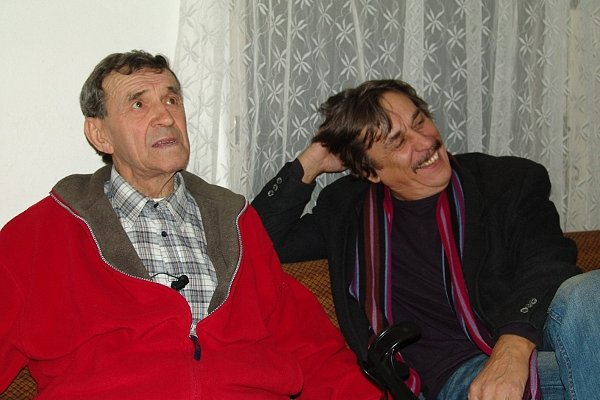 FRANTIŠEK PETERKA a LADISLAV DUŠEK v Malém divadle v roce 2009.