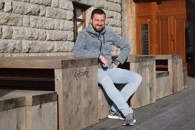 Tomáš Fotul. Majitel horské rozhledny a horské chaty Královka.
