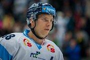 Utkání 6. kola Tipsport extraligy ledního hokeje se odehrálo 30. září v liberecké Home Credit areně. Utkaly se celky Bílí Tygři Liberec a BK Mladá Boleslav. Na snímku je Michal Bulíř.