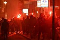 Demonstrace antifašistů v Liberci