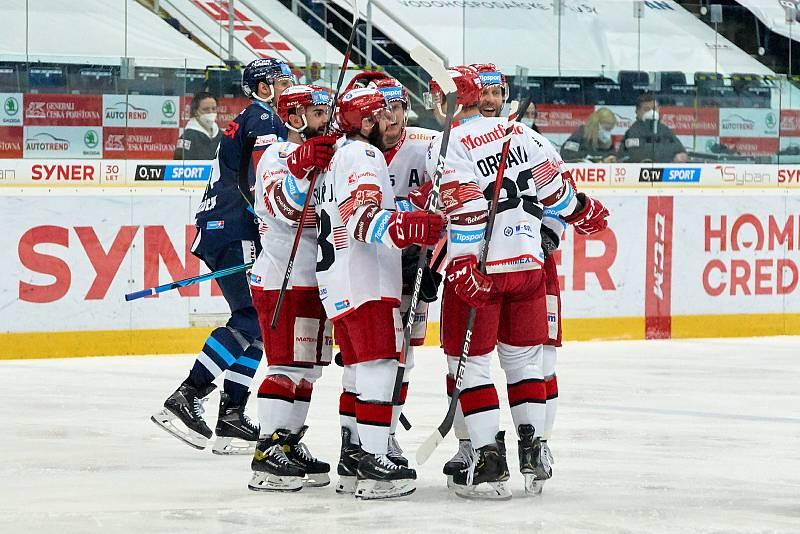 1. zápas čtvrtfinále Bílí Tygři Liberec – Mountfield Hradec Králové