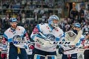 Utkání 20. kola Tipsport extraligy ledního hokeje se odehrálo 18. listopadu v liberecké Home Credit areně. Utkaly se celky Bílí Tygři Liberec a HC Energie Karlovy Vary. Na snímku je brankář Roman Will.