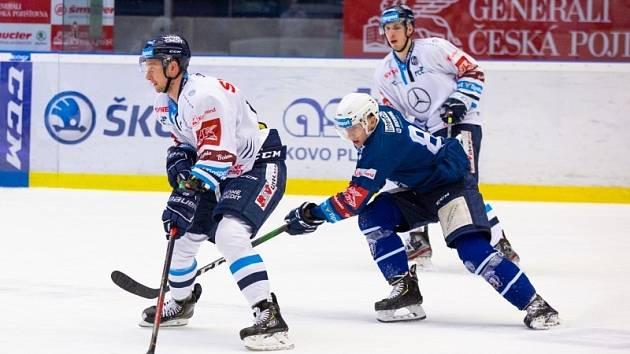 Hokejisté Liberce vyhráli v Plzni 3:2 v prodloužení.