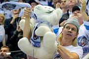 Finálové utkání Bílých Tygrů Liberec (v bílém) proti Kometě Brno