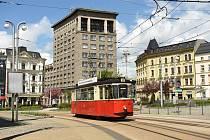 Historická ex-německá tramvaj Gotha T2-62 v Liberci.