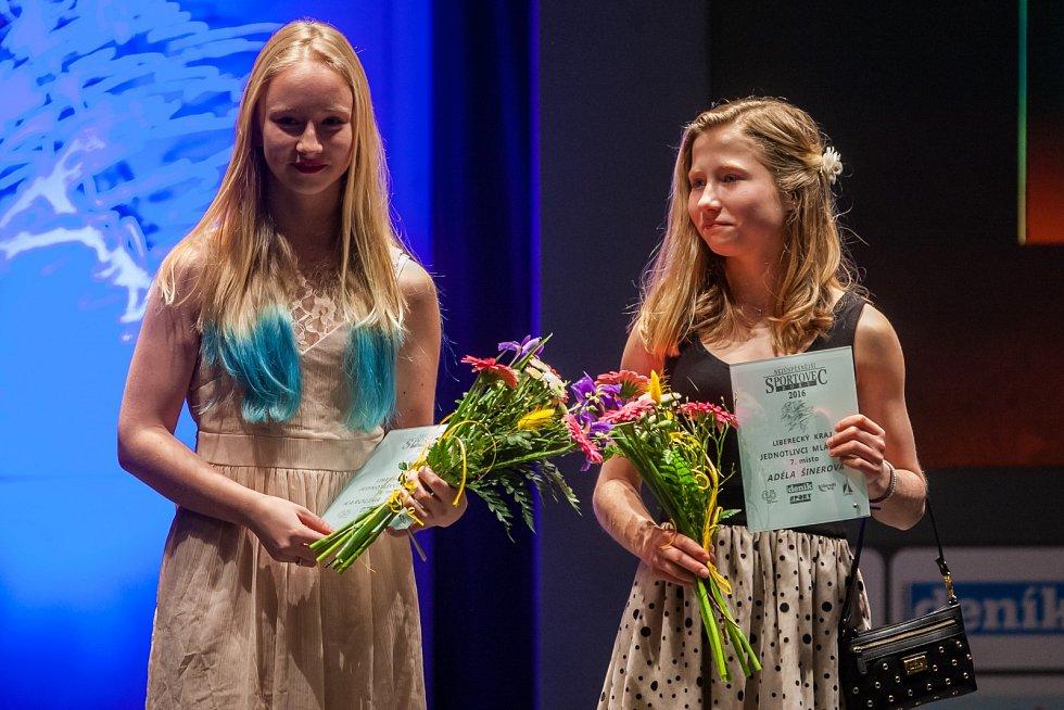 Vyhlášení ankety Nejúspěšnější sportovec Libereckého kraje za rok 2016 proběhlo 4. dubna v libereckém Divadle F. X. Šaldy. Na snímku vpravo Adéla Šinerová.