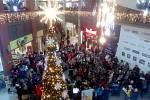 Lidé zpívali koledy i v OC Forum Liberec.