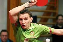 MARTIN JAHODA. S Ukrajincem Sitakem byl liberecký hráč blízko výhře, ale nakonec těsně prohrál.