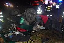 Pondělní ranní nehodu nepřežil na Liberecku řidič auta.