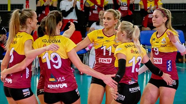 Liberecké volejbalistky jsou stále první, doma porazily Frýdek-Místek.