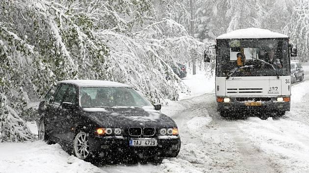 Sněhová kalamita v Liberci.