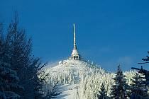 Ještěd - zima 2013