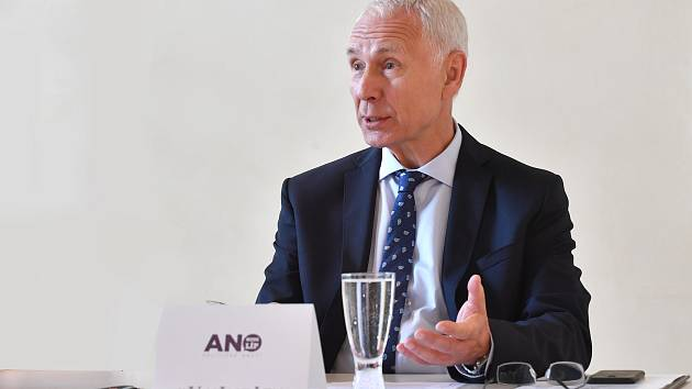 Tisková konference hnutí ANO - představení Jiřího Němečka, kandidáta na primátora Liberce.